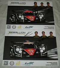 Le Mans 2013 - FIA WEC Du Man Rebellion Racing Lola Toyota LMP1 Signed Card Set