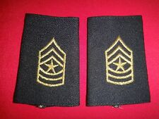 Pair Of US Army SERGEANT MAJOR Rank E9 Shoulder Badges Epaulets (Female)