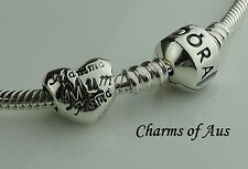 GENUINE Pandora bracelet with Mum in many languages charm. Christmas Special