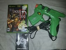 House of the Dead III Xbox Complete Game & Green Madcatz Blaster Gun controller