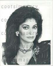 1985 Pretty Actress Apollonia Kotero TV Soap Opera Falcon Crest Press Photo