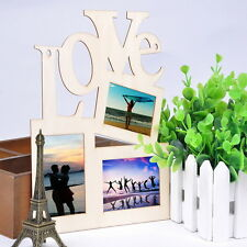 Sweet Wooden Hollow Love Photo Picture Frame Home Decor Art DIY Gift New OE