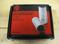 "MAC TOOLS 2 PC. 1/2"" DRIVE SAE PROTECTIVE DEEP WELL SOCKET SET NEW 3/4,13/16 NIB"