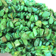 """5-10mm green turquoise chip beads 35"""" strand chips"""
