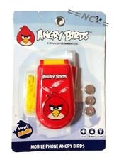 Cute Toy Kids Mobile Phone Angry Birds Light Sound Game Cartoon Movie Play Tel