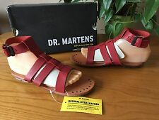 Ladies Dr. Martens Bodi gladiator red leather strappy sandals UK 4 EU 37 BNWB