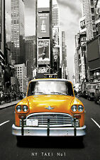 "NEW YORK YELLOW TAXI Large Canvas Print  A1 30"" x 20"""