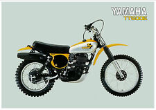 YAMAHA Poster TT500 TT500E 1978 VMX Superb Suitable to Frame