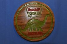 Sinclair Dino Gas Magnet Walnut Wood Refrigerator Magnet American Made/ Homemade