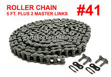 ROLLER CHAIN #41 W/ TWO MASTER CONNECTING LINKS, 5 FT.,GO KARTS, 4x4, MINI BIKES