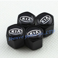 Black Styling Car Wheel Tyre Tire Stem Air Valve Cap For KIA Motors All Vehicles