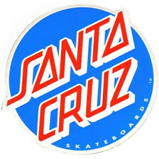 SANTA CRUZ - Classic Dot Logo - Blue/Red - Skateboard Sticker - 10cm