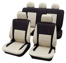 Black & Beige Elegant Car Seat Cover set - For Honda Jazz 2005 Onwards