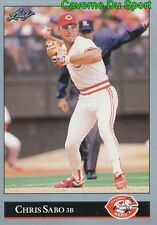 271   CHRIS SABO    CINCINNATI REDS  BASEBALL CARD LEAF 1992