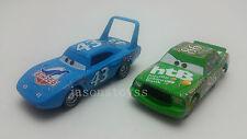 Mattel Disney Pixar Cars King & Chick Hicks Metal Diecast Toy Car Loose New #