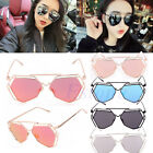 Women Mirrored Lenses Designer Sports Retro Vintage Cat Eye Sunglasses Oversized