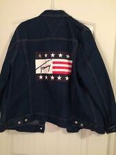 "Tommy Hilfiger Women's Denim Jacket With American Flag ""Tommy"" Logo"