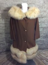 VINTAGE BLIN BLIN FUR COAT WOOL WOMENS LARGE XL