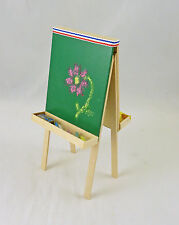 Dollhouse Miniature Artisan Child's Double Chalkboard Painting Easel