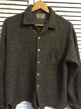 Vintage 1950's Spinnaker Virgin Wool Mohair Blend Shirt Made In USA Men's Large