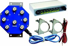 MS-S7-WEB controlled REMOTE ANTENNA SWITCH, 7 POSITIONS, 2 KW PEP, Ready for use