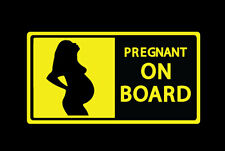 Pregnant on board, Mom to be in car, sticker vinyl decal, car, truck, window