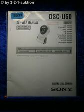 Sony Service Manual DSC U60 Level 1 Digital Still Camera (#5931)