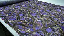 "MC2 PURPLE HUNTING CAMO TRUE TIMBER 60""W 1.2OZ NON WOVEN SOFT CAMOUFLAGE FABRIC"