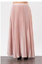 Long Pleated Polyester Blush Skirt  Size 3X