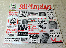 """VARIOUS (LP) """"HIT-ANZEIGER"""" [1964 / GER ELECTROLA SME 83785 STEREO """"WHITE-GOLD""""]"""