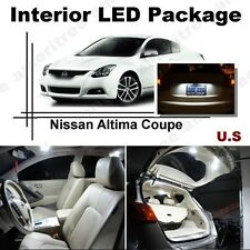 For Nissan Altima Coupe 2008-13 White LED Interior kit + White License Light LED