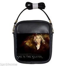 Buffy The Vampire SLayer Sarah Black Leather Sling Phone Case Bags Wallet Purse
