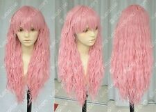 Hot ! New Lolita Style Fashion Long Dark Pink Cosplay Wig Free shipping