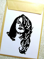 "AALIYAH, Original Pop Art, Music Celebrities vinyl decal Sticker 4""X 5½"" inches."
