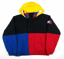 90S VTG TOMMY HILFIGER FLEECE LINED COLORBLOCK JACKET LOTUS SPORT POLO STADIUM M