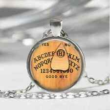 Ouija Board Glass Cabochon Tibet silver pendant chain necklace