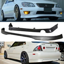JDM 2001-2005 LEXUS IS300 PU TR FRONT J REAR BUMPER LIP SPOILER BODY KIT COMBO