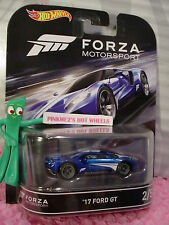 FORZA MOTORSPORT #2/5 '17 FORD GT☆Blue ;Real Riders☆2016 Hot Wheels Retro