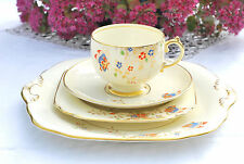 Vintage Teacup Trio Saucer Teaplate Art Deco English Butterflies