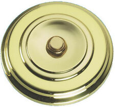 Solid Polished Brass Large Round Victorian Door Bell Push Switch (PB267)