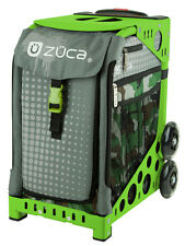 ZUCA Bag PAINTBALL Insert & Green Frame w/Flashing Wheels - FREE CUSHION