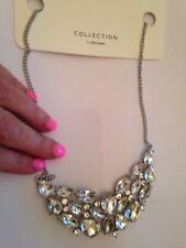 DAMAGED - JOHN LEWIS statement crystal chunky missing stone NECKLACE- RRP £22