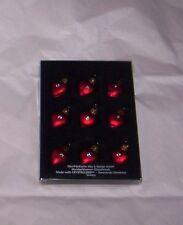 Swarovski  Elements Glass Mini Heart Ornaments S/9   NIB    Mardi Gras