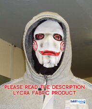 SAW FACE SCARY HALLOWEEN NOVELTY FULL LYCRA FABRIC FACE MASK SNOOD FANCY DRESS