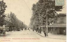 SAINT OUEN 6 perspective de l'avenue des batignolles timbrée 1905