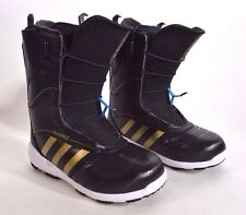 2015 MENS ADIDAS BLAUVELT SNOWBOARD BOOTS $375 9 black metallic gold white USED