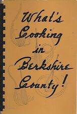 PITTSFIELD *GREAT BARRINGTON MA VINTAGE COOKBOOK *WHAT'S COOKING IN BERKSHIRE CO