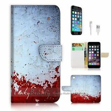 iPhone 6 (4.7') Flip Wallet Case Cover! P0888 Blood Wall