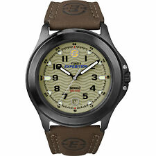 Timex Men's Expedition | Field Metal Indiglo Leather Band Date | Watch T47012