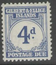 GILBERT & ELLICE IS. SGD4 1940 4d BLUE MTD MINT